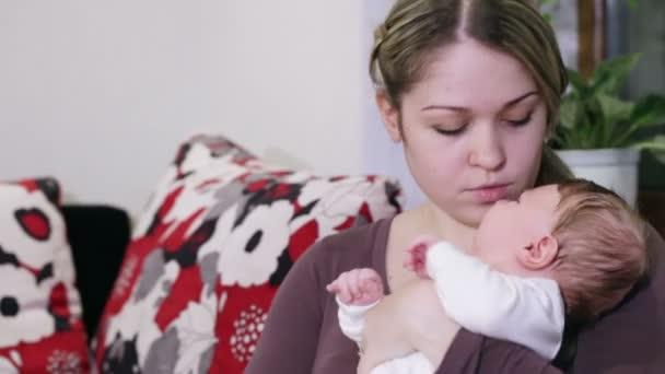 Mom crying baby