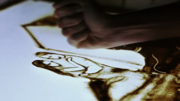 Couple, painted sand animation