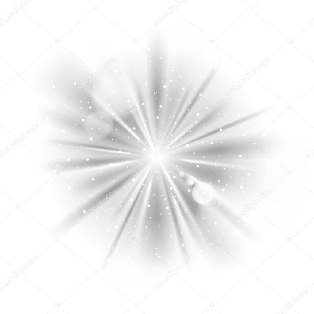 Fondo De Luz Sunburst Blanco Y