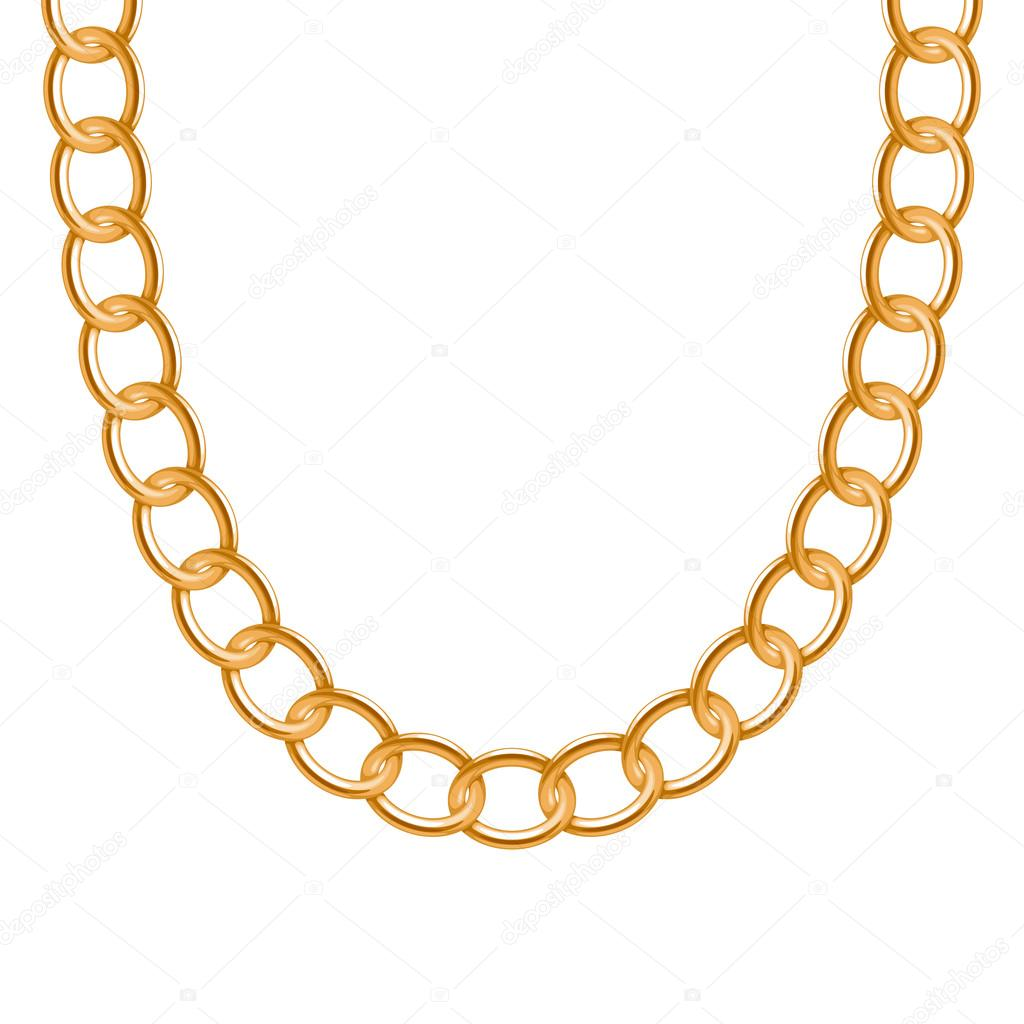 Chunky chain golden metallic necklace or bracelet. — Stock ...