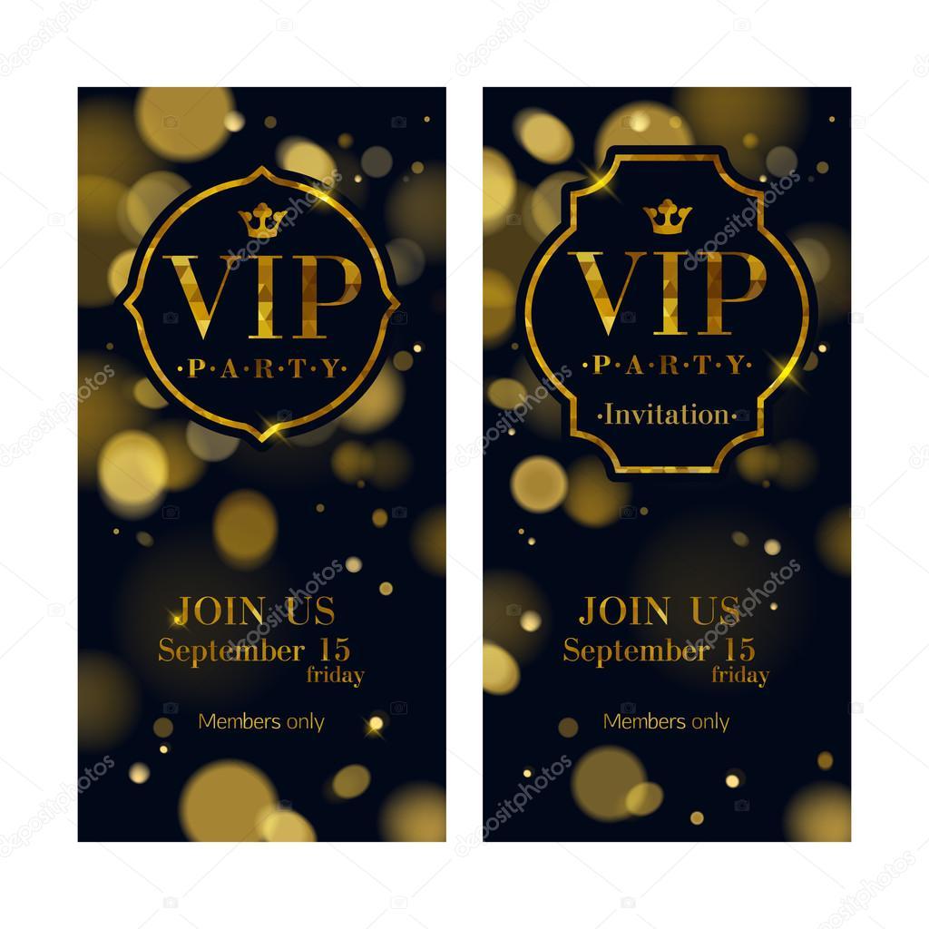 vip einladungskarten premium-design-vorlage. — stockvektor