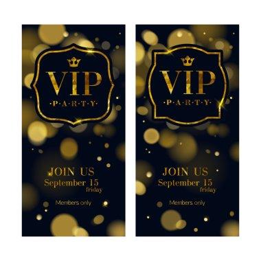 VIP invitation cards premium design template.