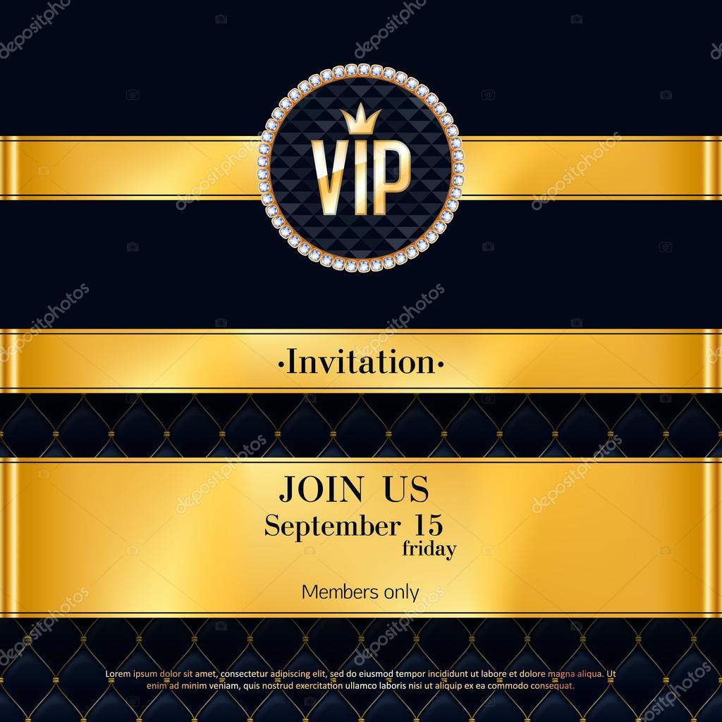 VIP invitation card premium design template. — Stock Vector ...