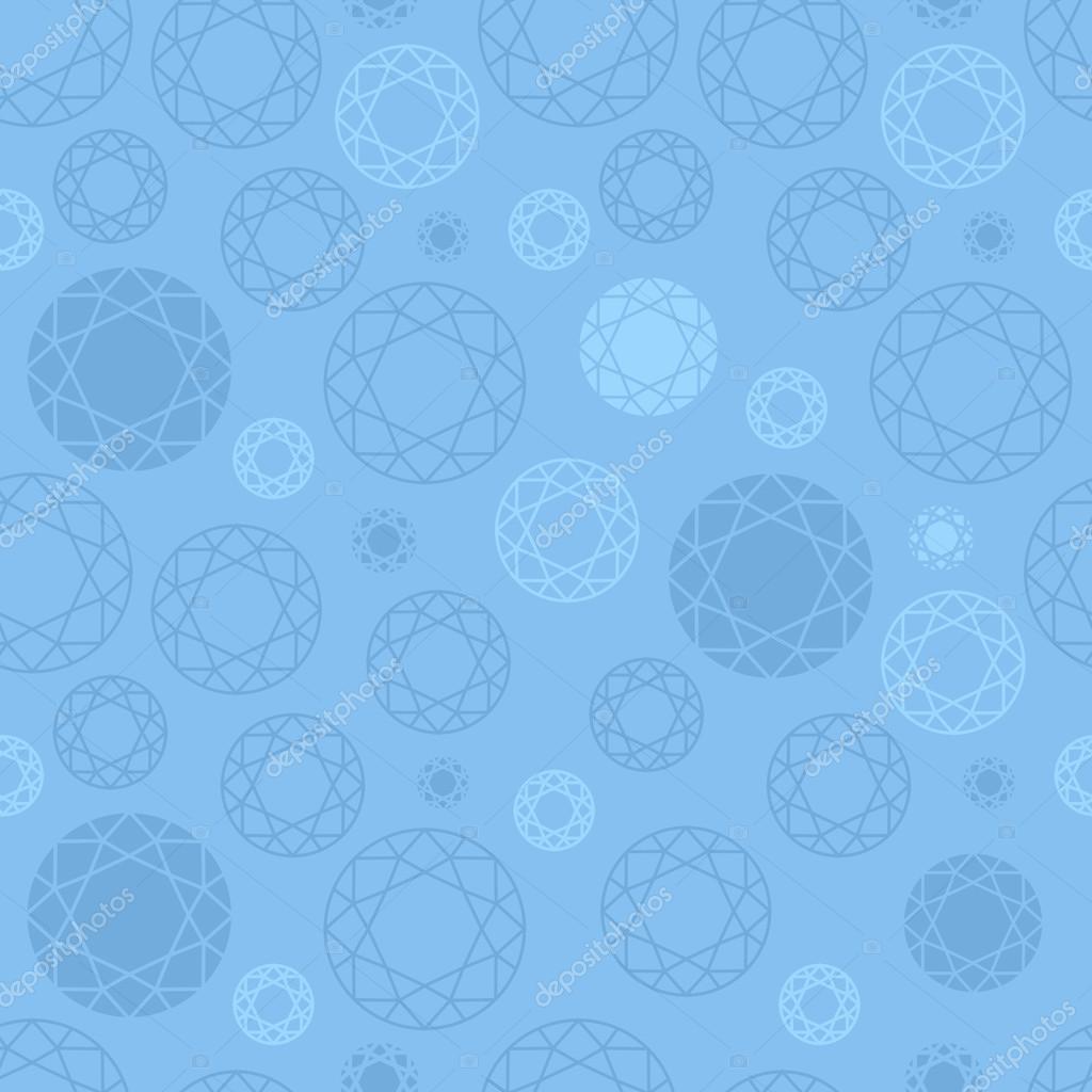 Seamless Light Blue Gemstones Pattern U2014 Stock Vector