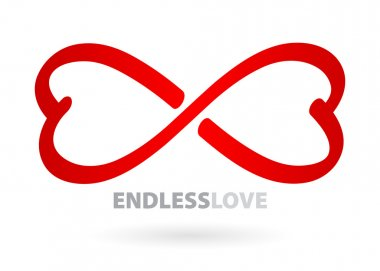 Endless love infinity symbol