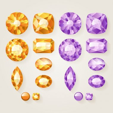 Set of realistic jewels