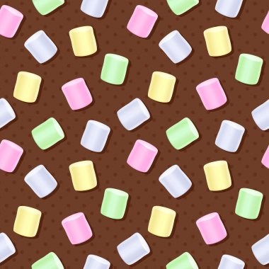 Seamless marshmallow pattern