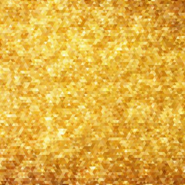 Golden glitter mosaic faceted background