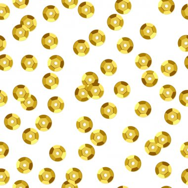 Golden sequins seamless pattern