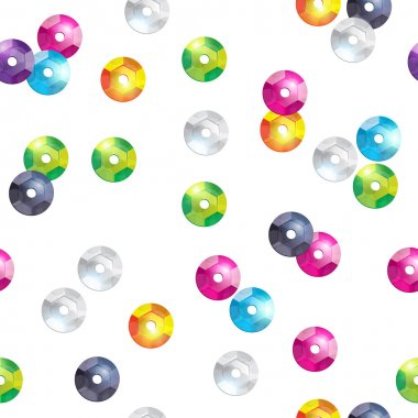 Colorful sequins seamless pattern