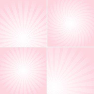 Set of pink shiny backgrounds