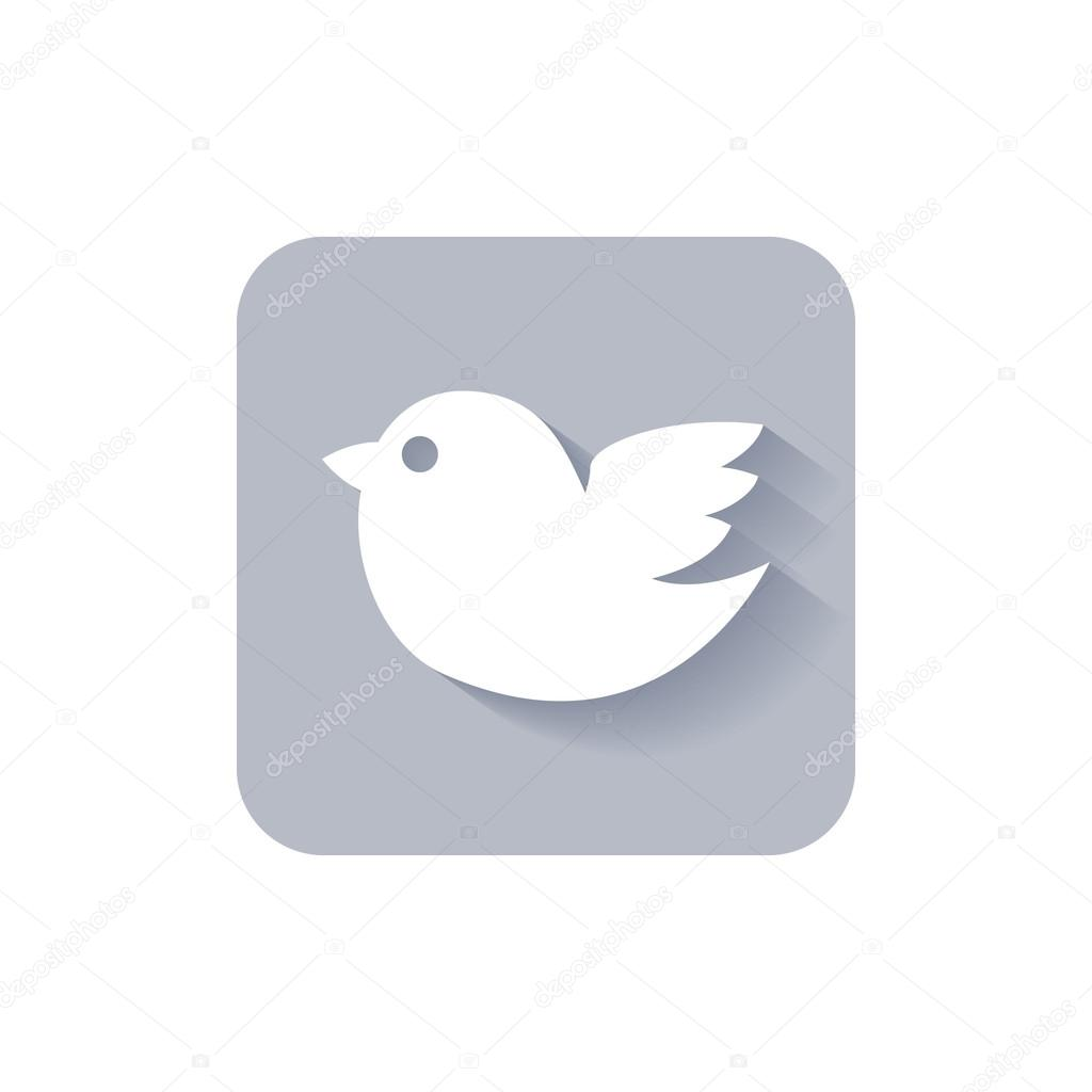 Trendy rounded square twitter bird social media icon.