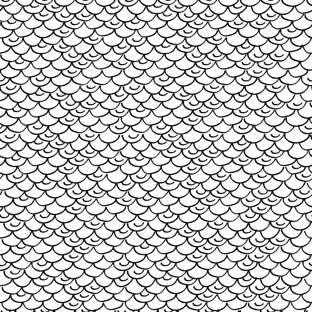 Escamas de pez dibujo | Escamas pez o serpiente - blanco y negro ...