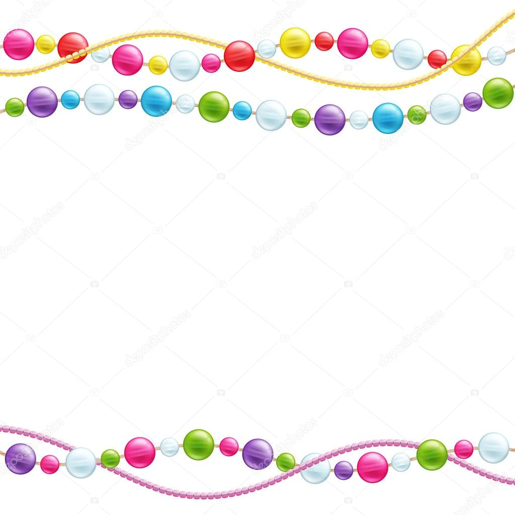 Colorful glass beads decoration background.