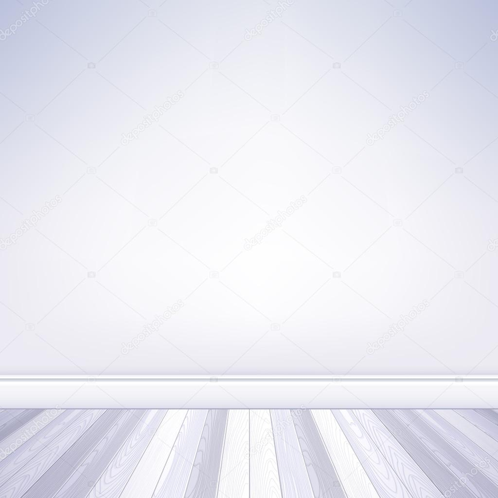 realistic empty room white wall and white wooden floor with plinth template house interior u2014 vector by reamolko