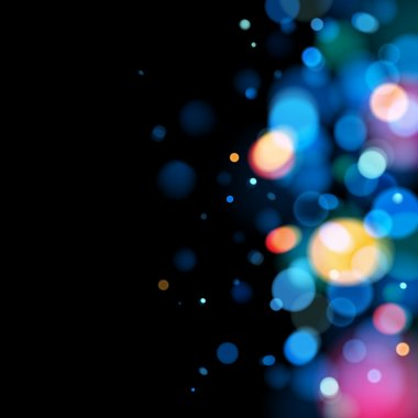 Abstract colorful bokeh blurry background.