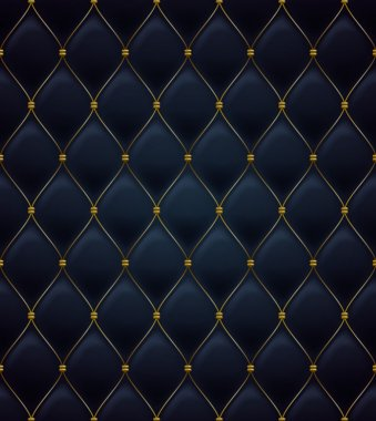 Quilted seamless pattern. Black color.