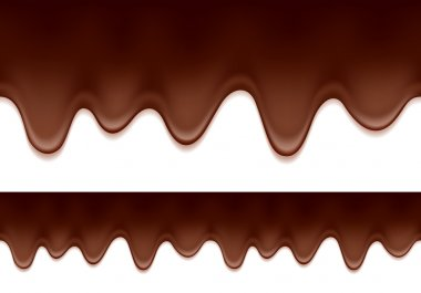 Melted chocolate drips - horizontal border.