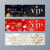 Set of VIP party banners templates.