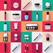 Make-up lapos ikonok beállítása.