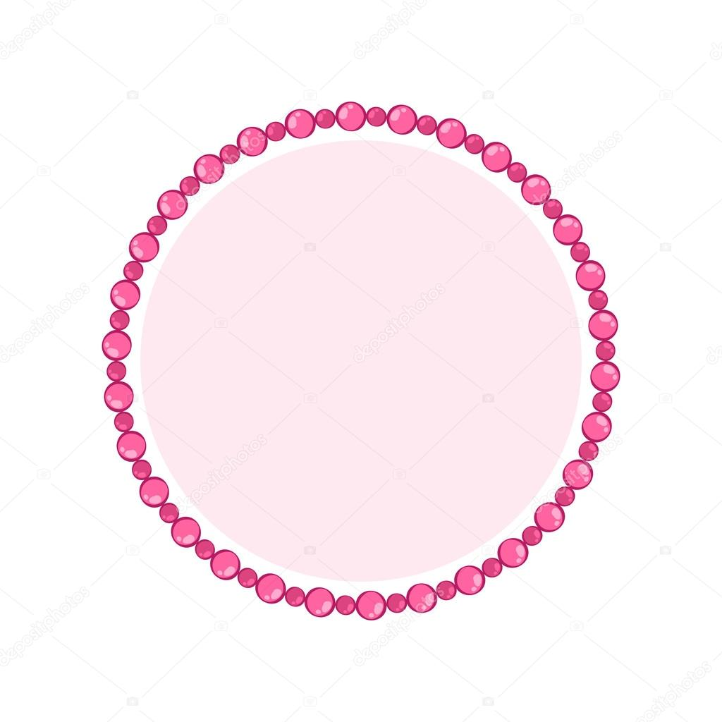 Simple style round jewelry frame template. — Stock Vector ...