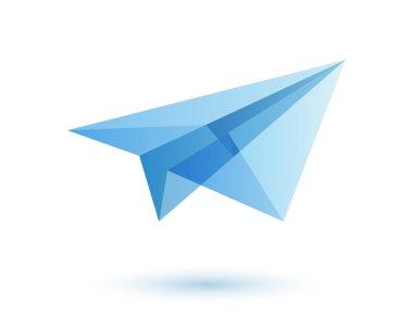 Paper plane logo design idea.
