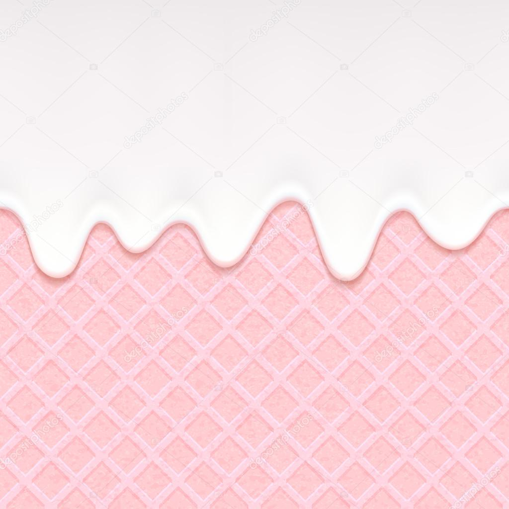 Pink Wafer And Flowing Cream