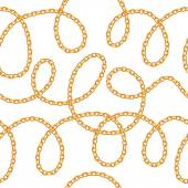 Golden chains on white background.