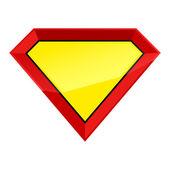 Fotografie Šablona prázdné štít super člověk