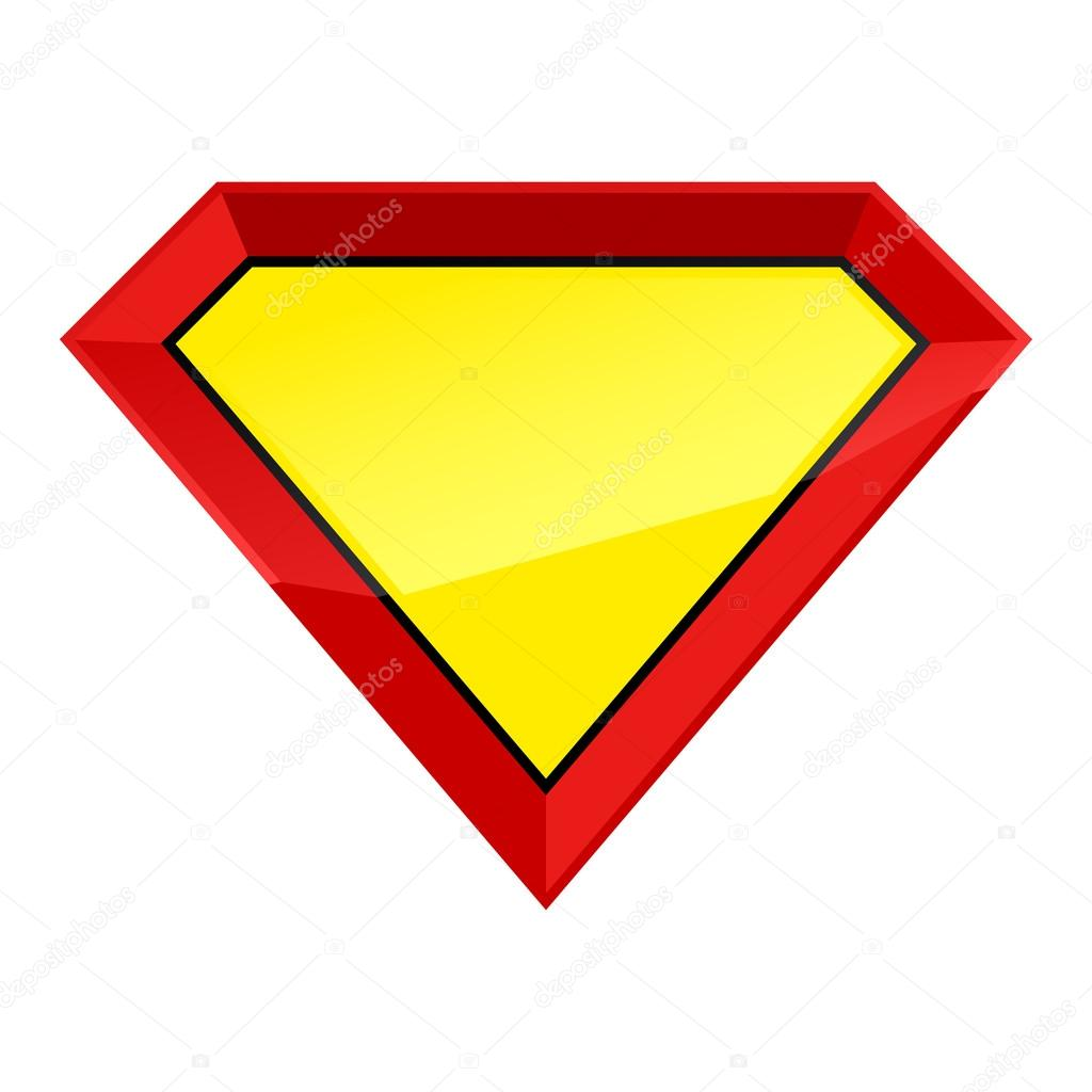 Super Man Hero Empty Shield Badge Template Vector Illustration By Rea Molko