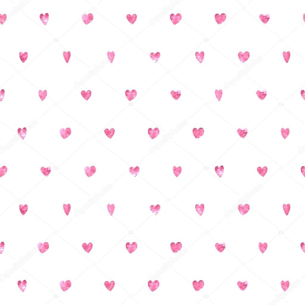 Seamless polka dot hearts pattern.