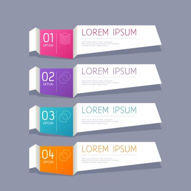 Modern infographics options banner vector illustration.