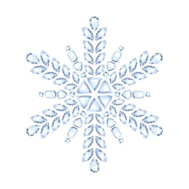 Diamond gemstone christmas shiny snowflake.