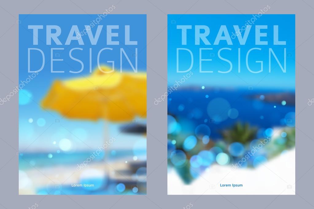 Cover design vector illustration - travel theme.