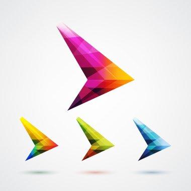 Arrow symbol logo design element.