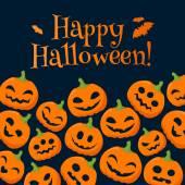Legrační dýně halloween pozadí s pozdravy