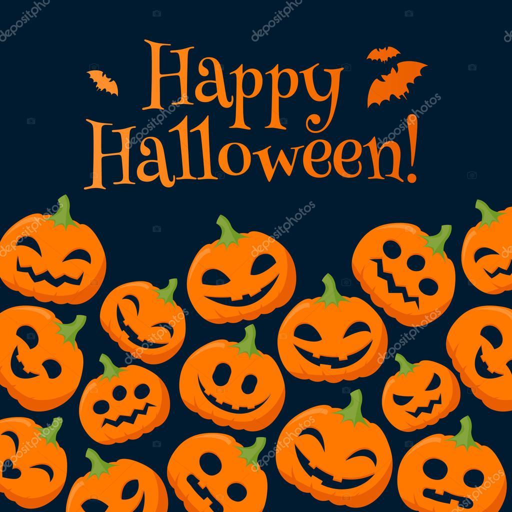 Fond de halloween citrouilles dr le avec des salutations - Image halloween drole ...