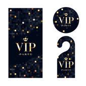 VIP pozvánky, upozornění závěs a odznak