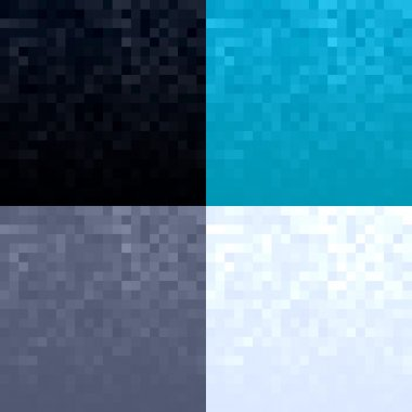 Pixel textures abstract backgrounds set.