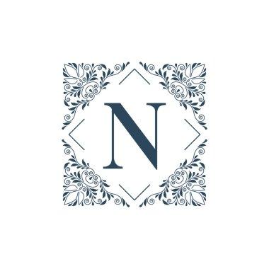 Flourish logo template ornament label.