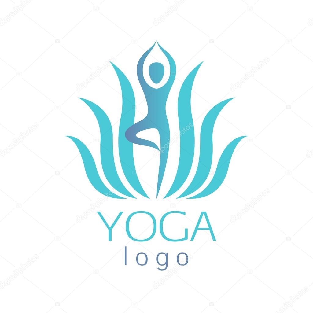 Yoga Figure And Lotus Flower Logo Pics Stock Photos All Sites