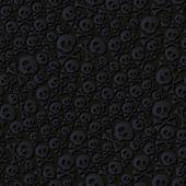 Roztomilé černé lebky a hnáty bezešvé vzor