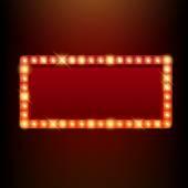 Žárovky vintage neonová záře rámu vektorové ilustrace