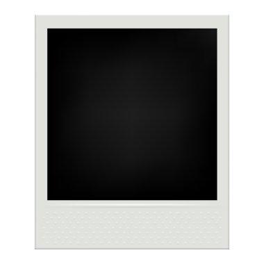 Instant film realistic polaroid frame.