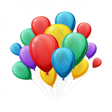Bunch of colorful balloons vector illustation.
