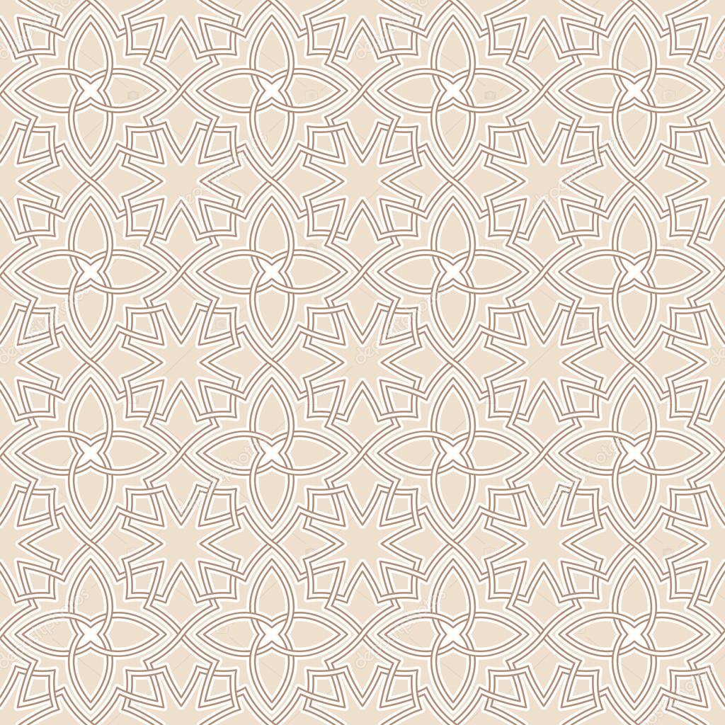 Arabesque seamless beautiful background pattern.