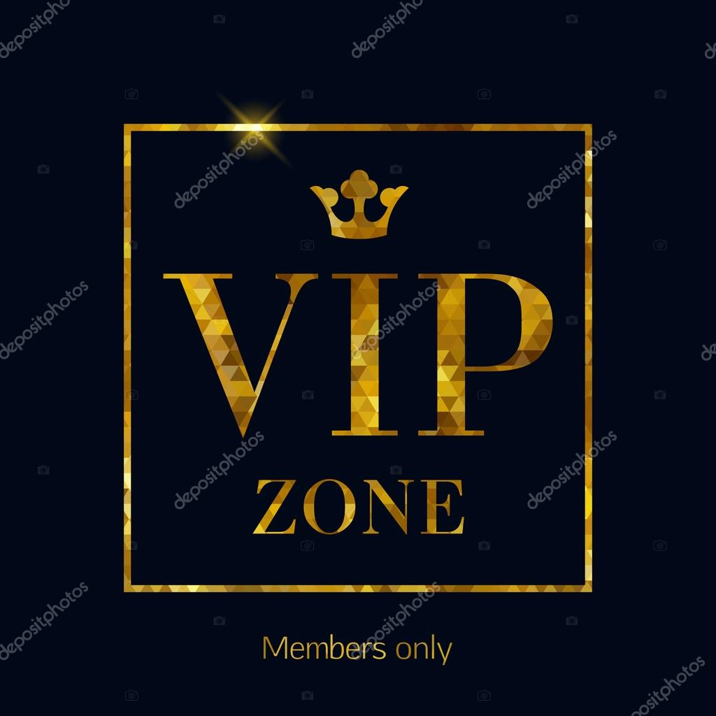 Vip zone abstract mosaic faceted letters illustration vetor de vip zone abstract mosaic faceted background golden letters with royal crown good for party invitation poster card flyer design vetor por reamolko stopboris Image collections