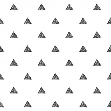 Triangles scribble sketch pattern background.
