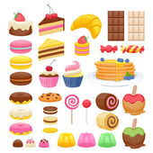 Photo Set of sweet food icons.