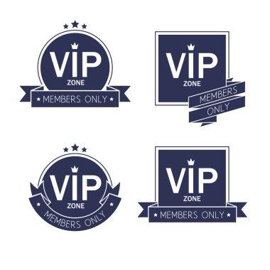 Different VIP badges labesl set.